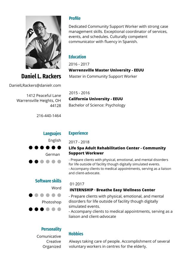 Design a resume that matches your qualities