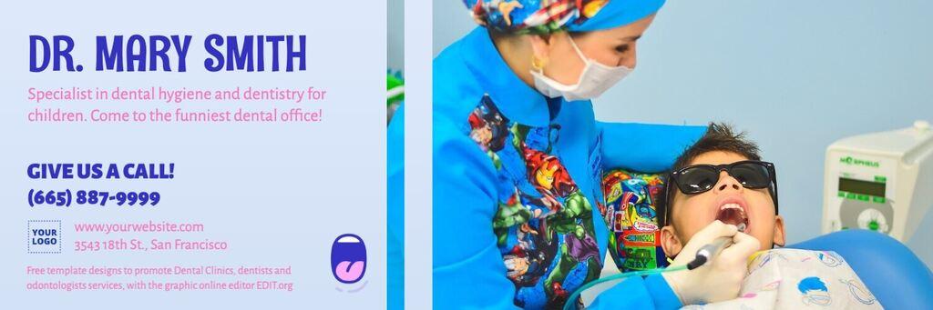 Editable template for kids dental clinic