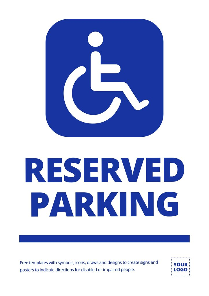 Reserved parking for disabled sign to edit online for free
