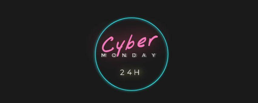 banner cyber monday neon