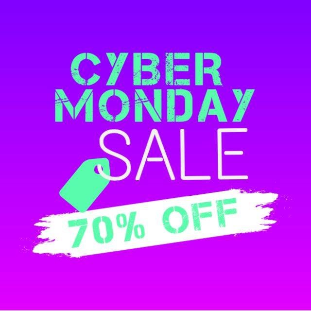 banner cyber monday purple