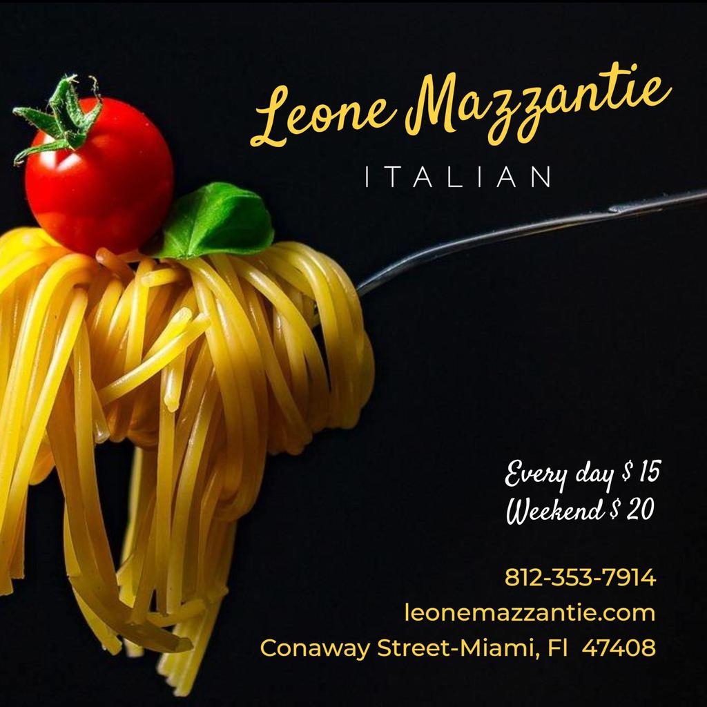 menu espaguetti ad