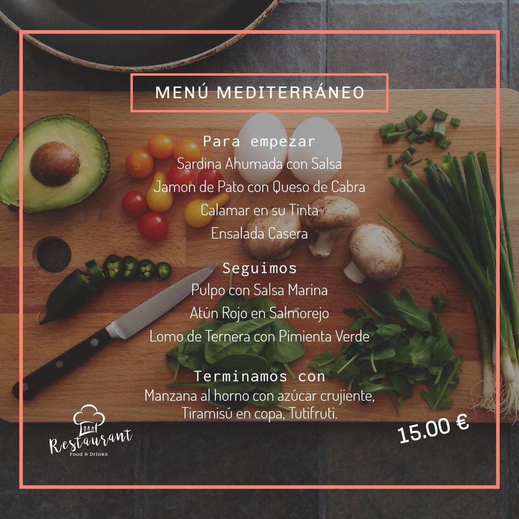 menu del dia mediterraneo