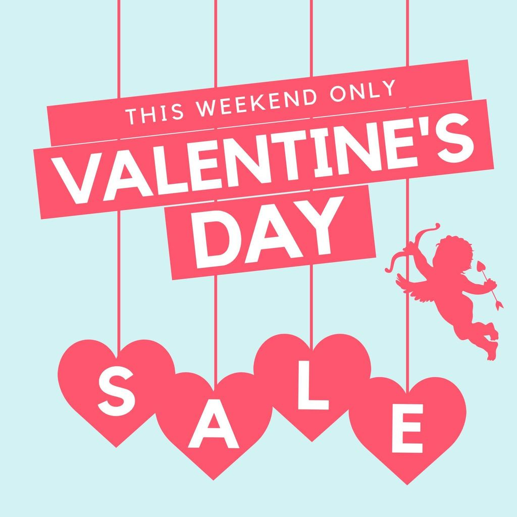 valentines day special sale blue