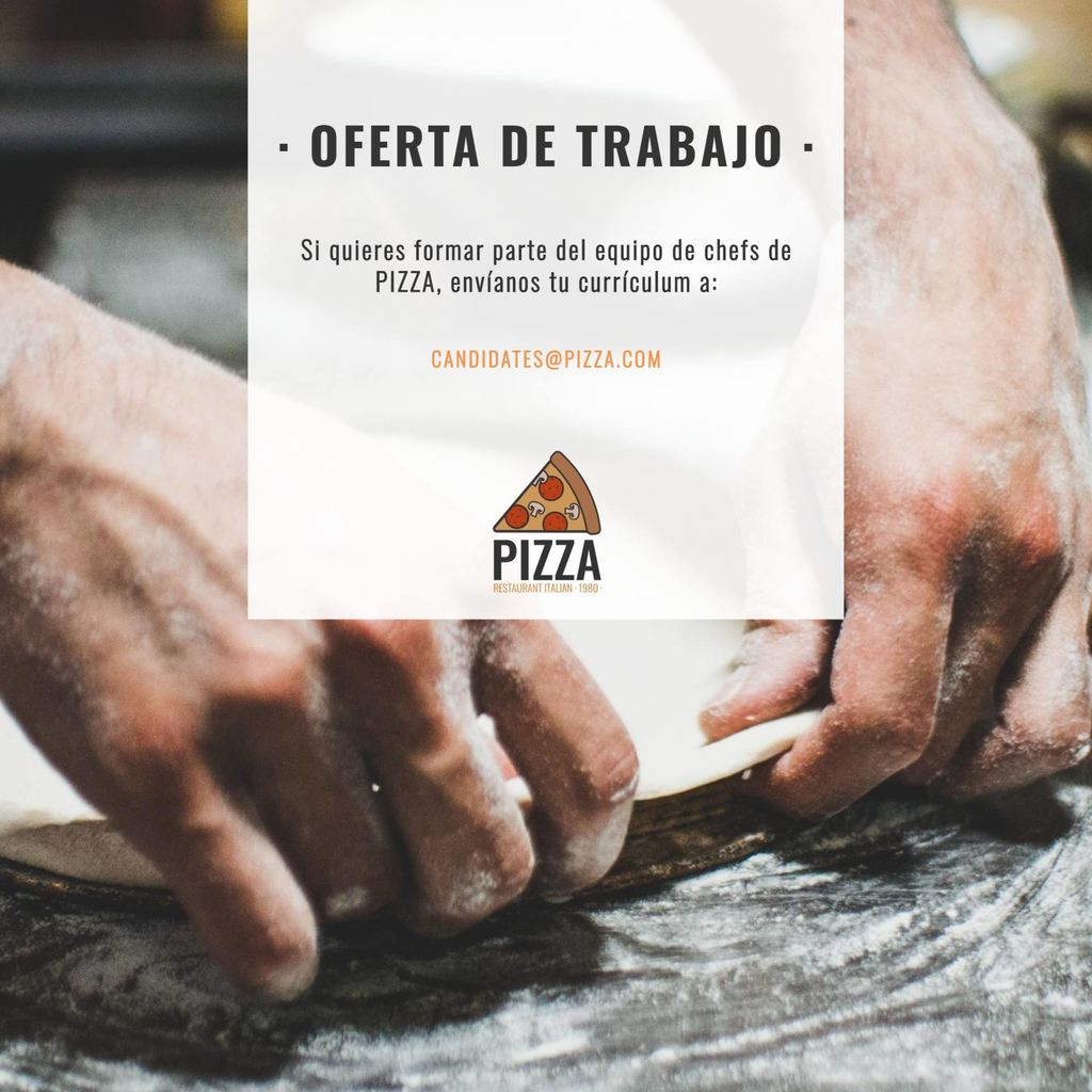 se buscan candidatos pizza