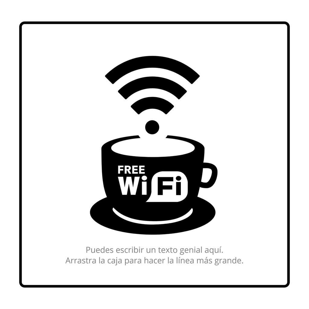poster wifi plantilla
