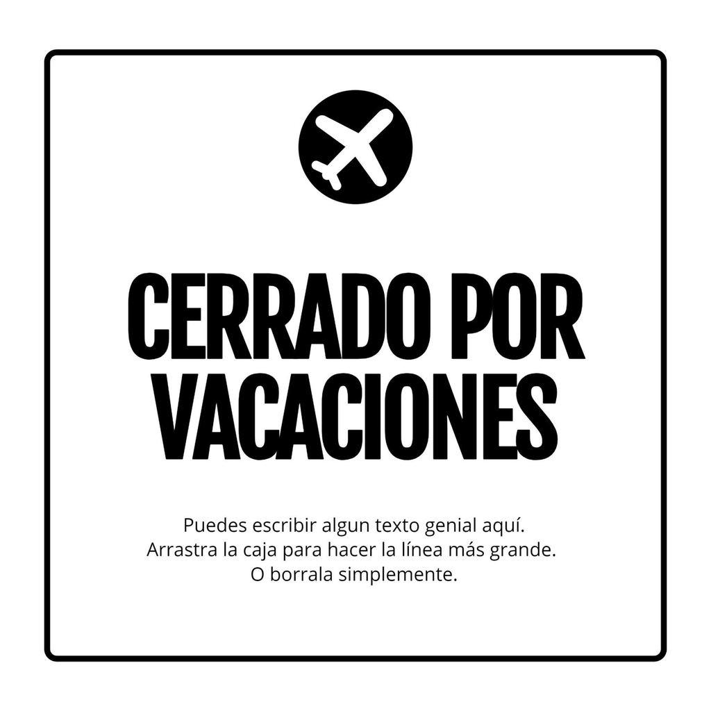 cerrado por vacaciones plantilla