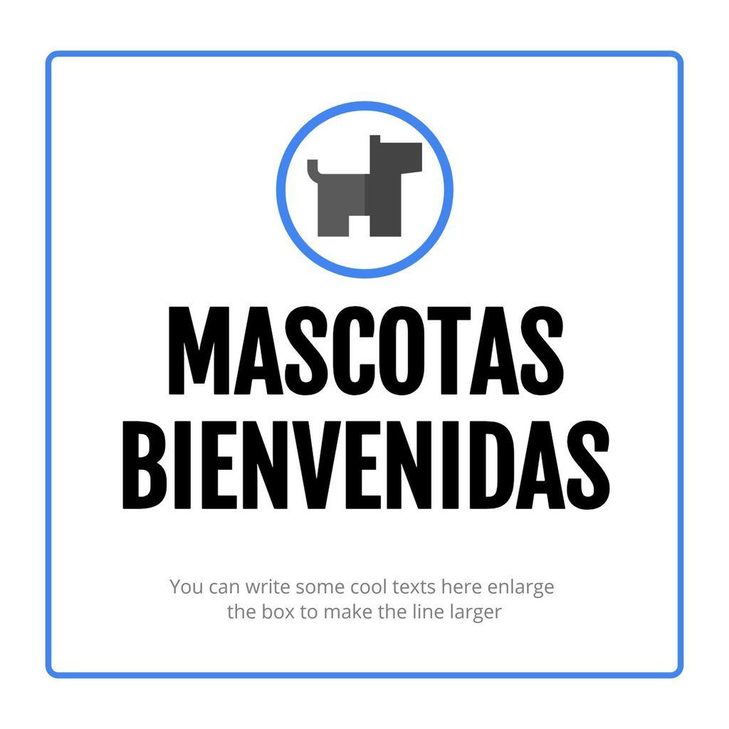 mascotas aceptadas cartel