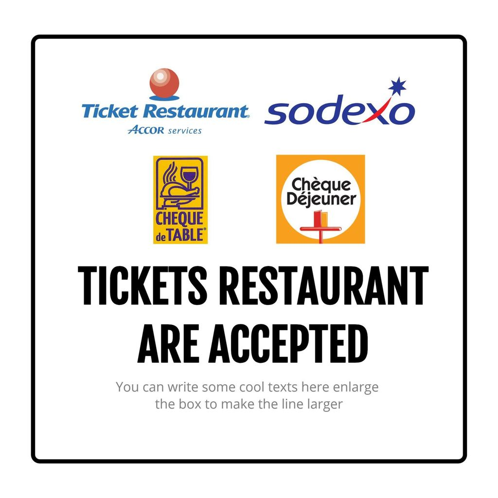 tickets restaurant template