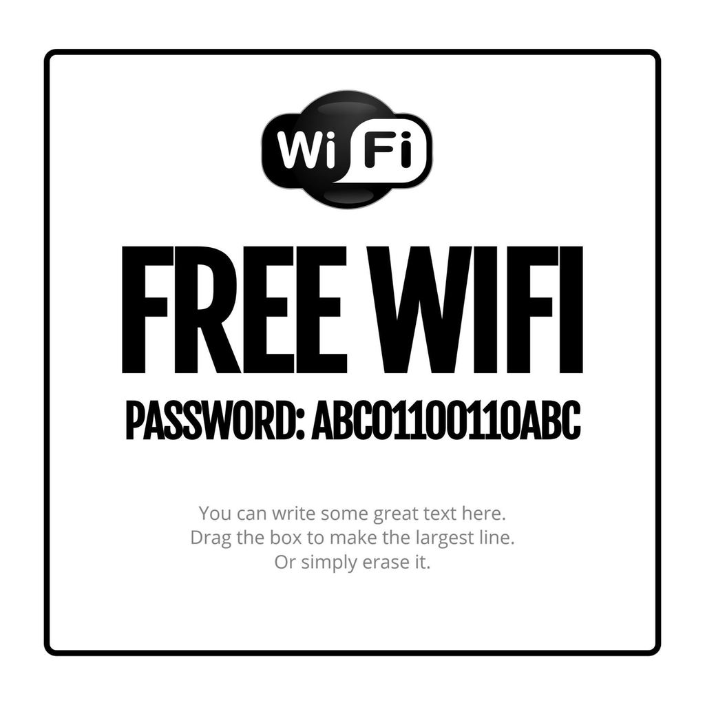 wifi password poster