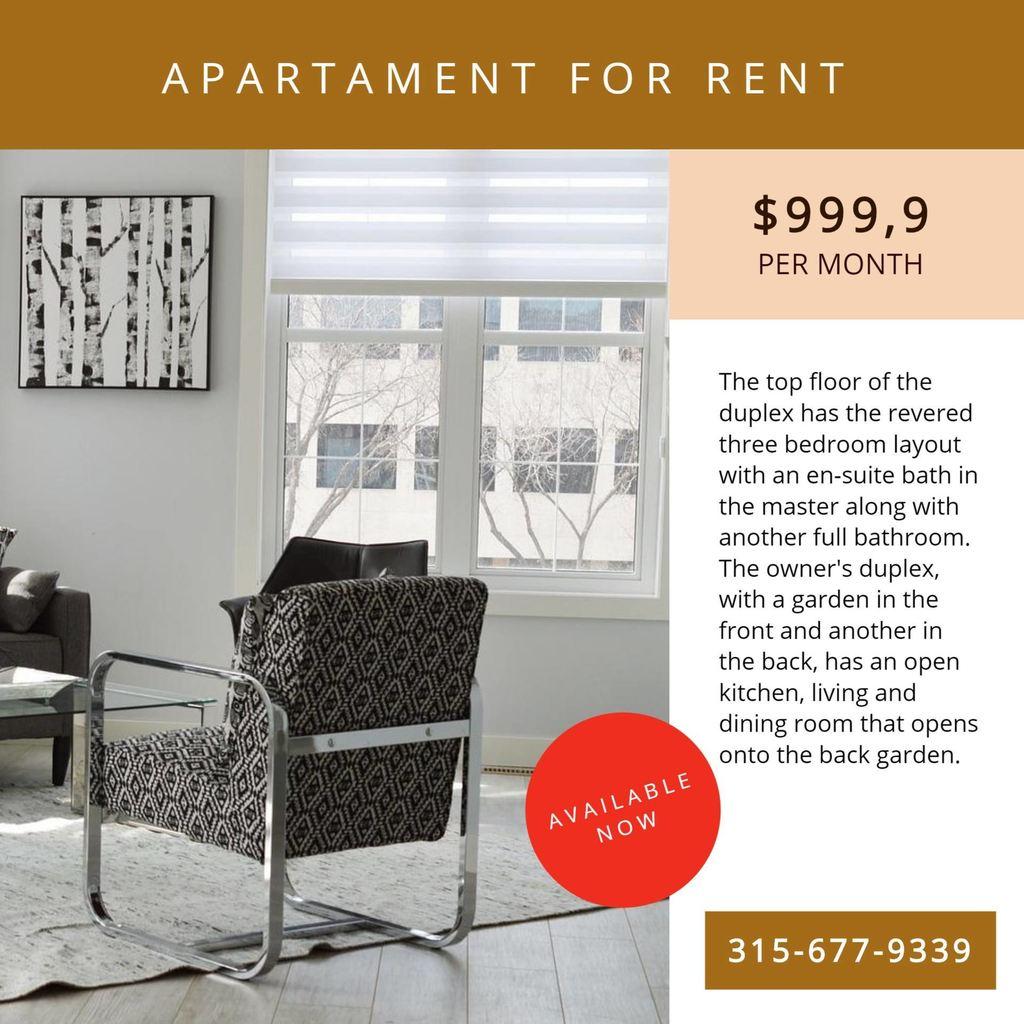 Plantilla de bannner para anunciar el alquiler de un apartamento