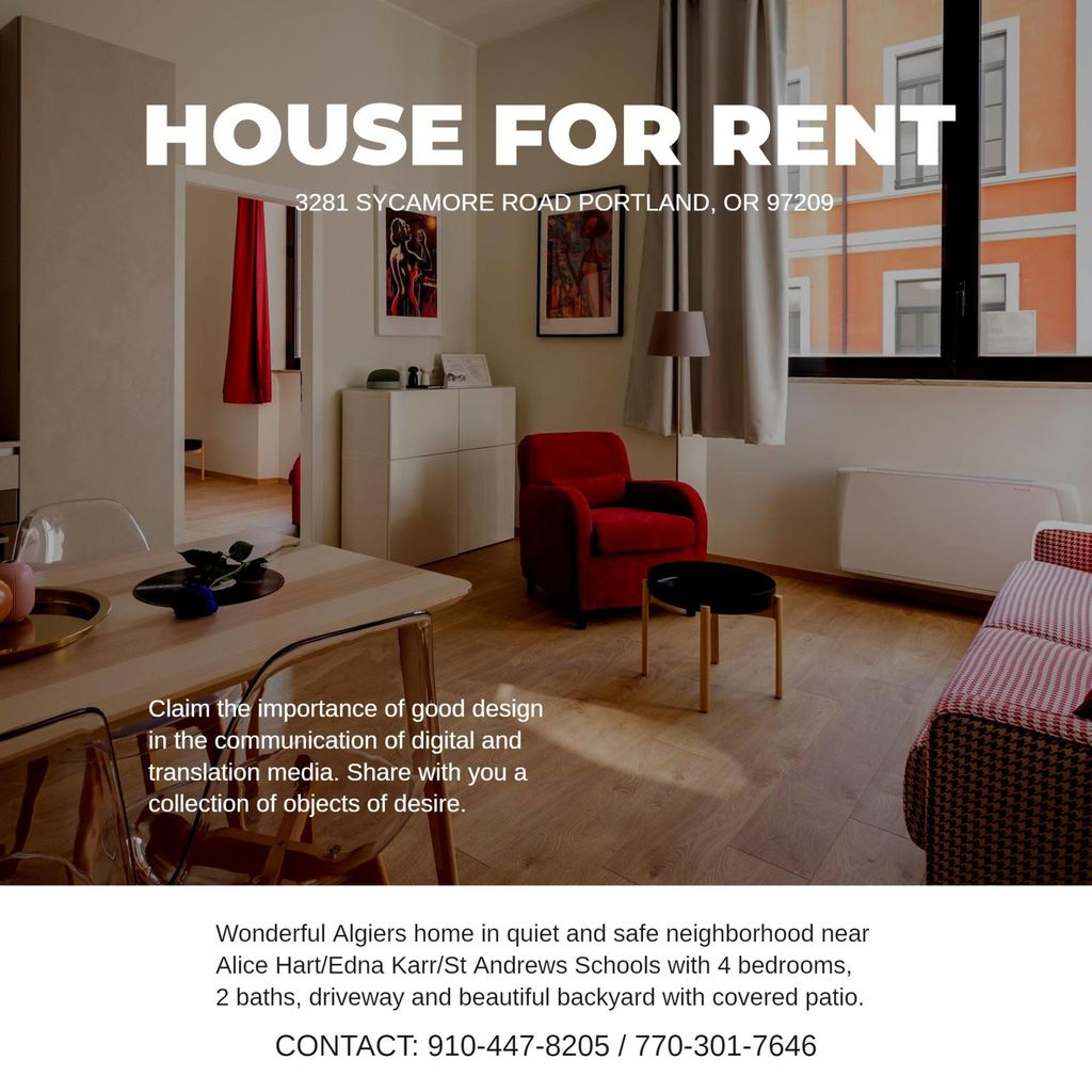 Posters to Rent or Sell your Flat Online