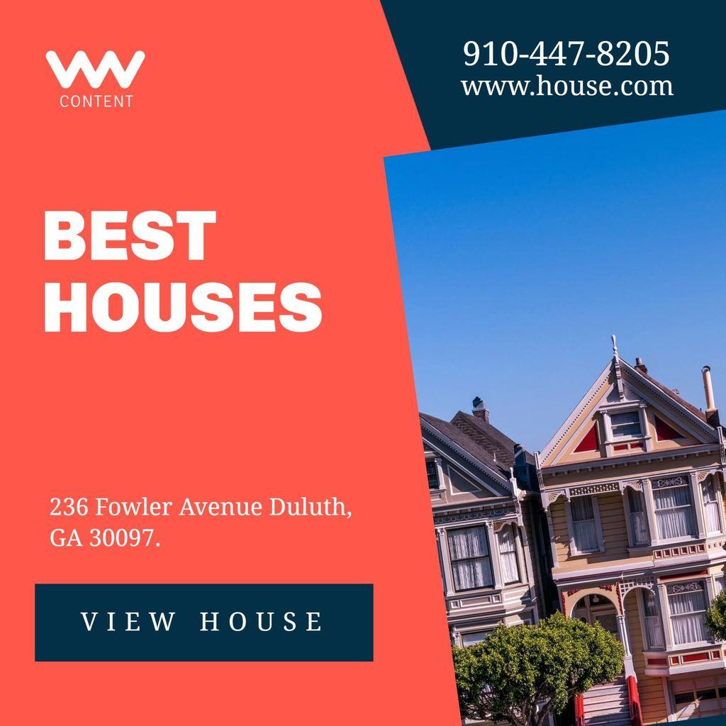 banner editable para promocionar la venta o alquiler de una casa