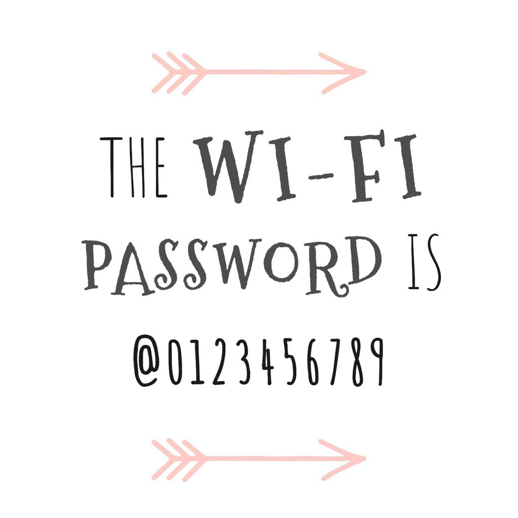 pink poster wifi