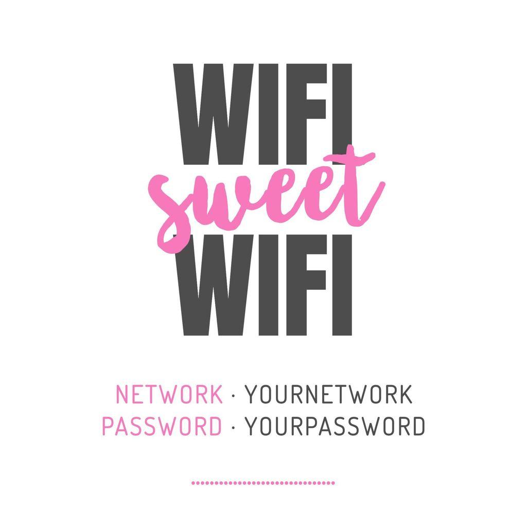 sweet wifi password