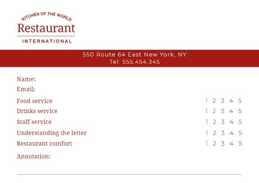 encuesta consumidor restaurante