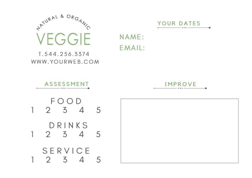 plantilla tarjeta de restaurante diseño