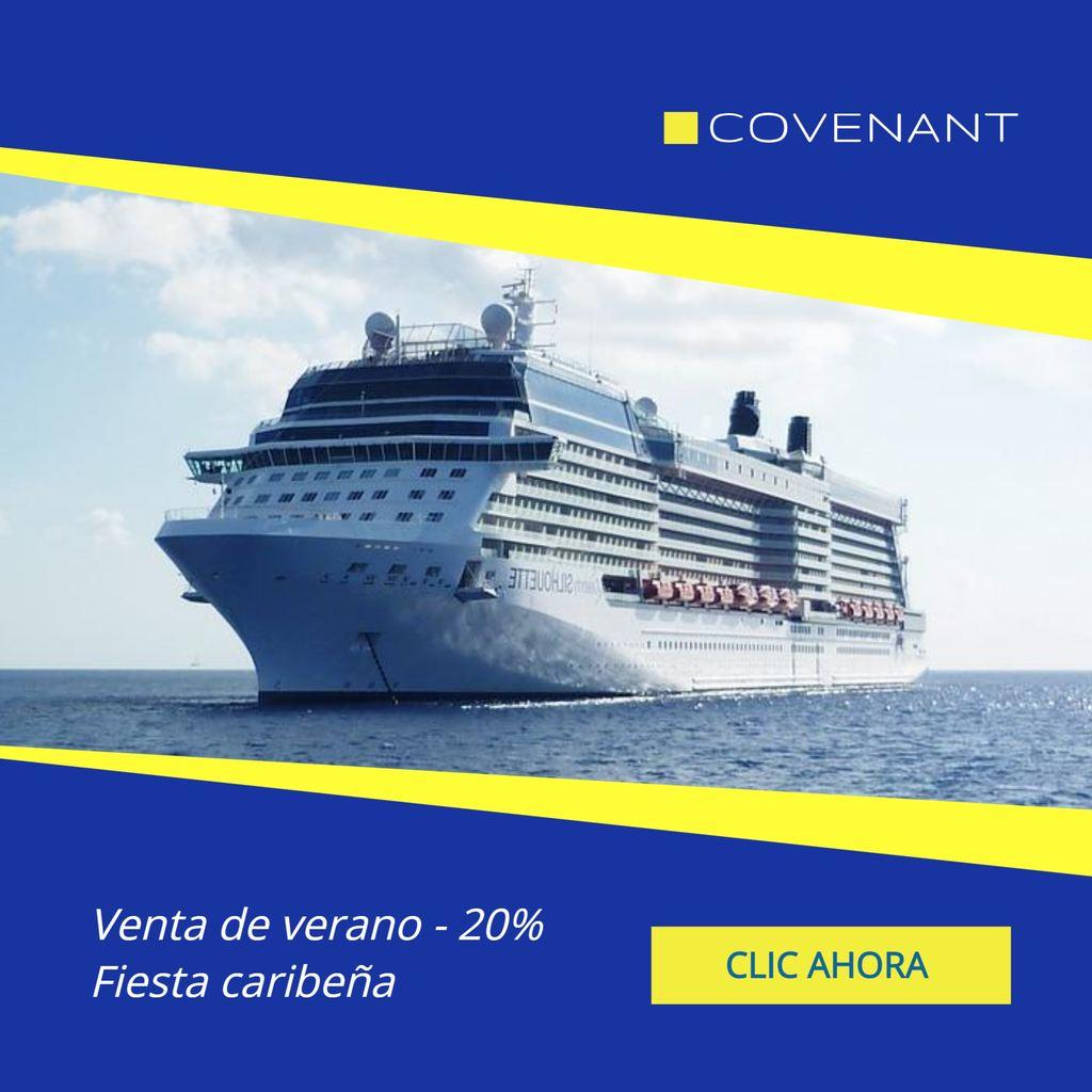 anuncio crucero plantilla verano