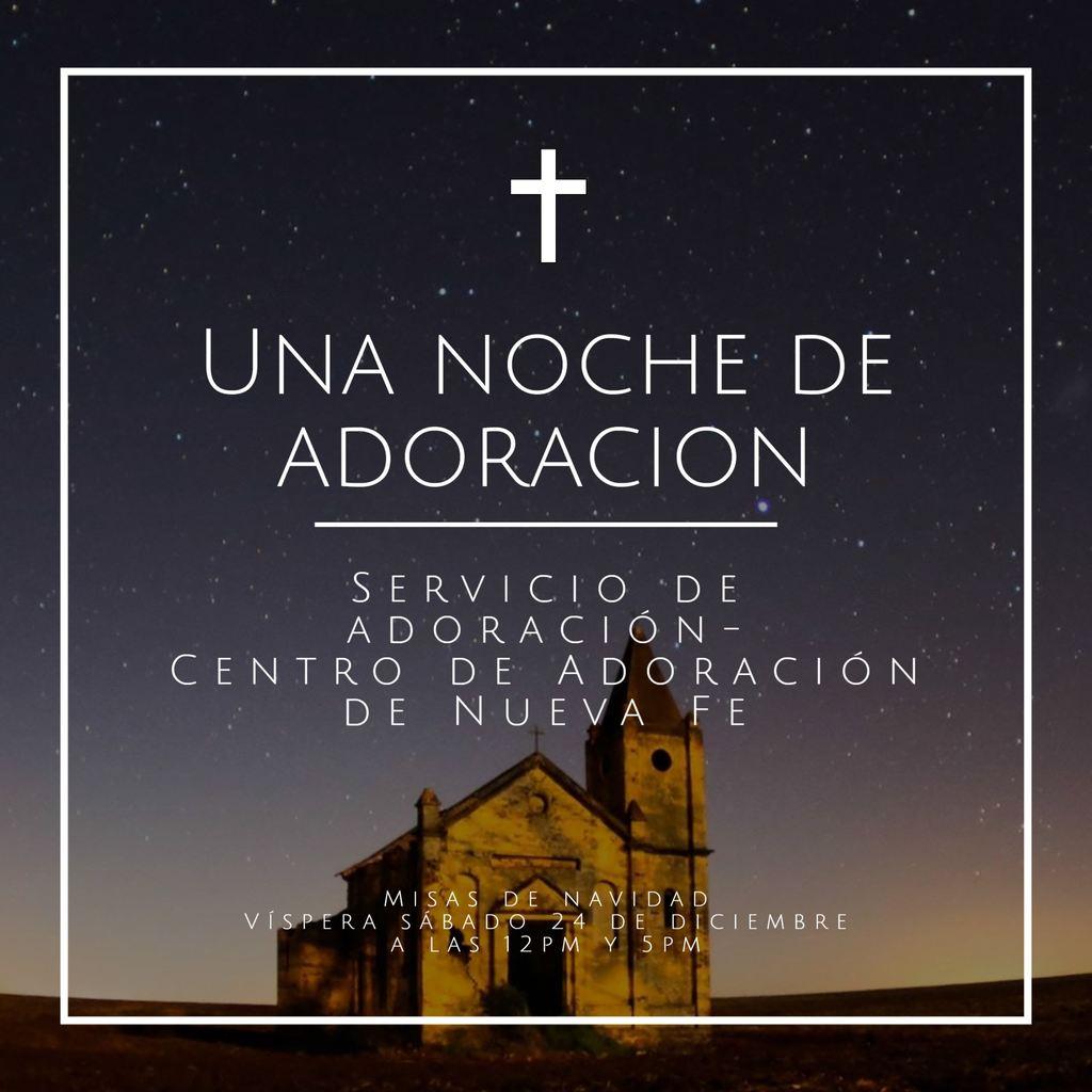 servicio adoración plantilla iglesia