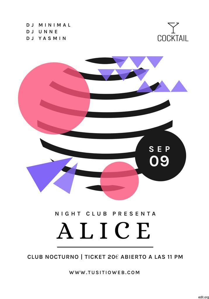 plantilla de cartel de fiesta en el club para editar