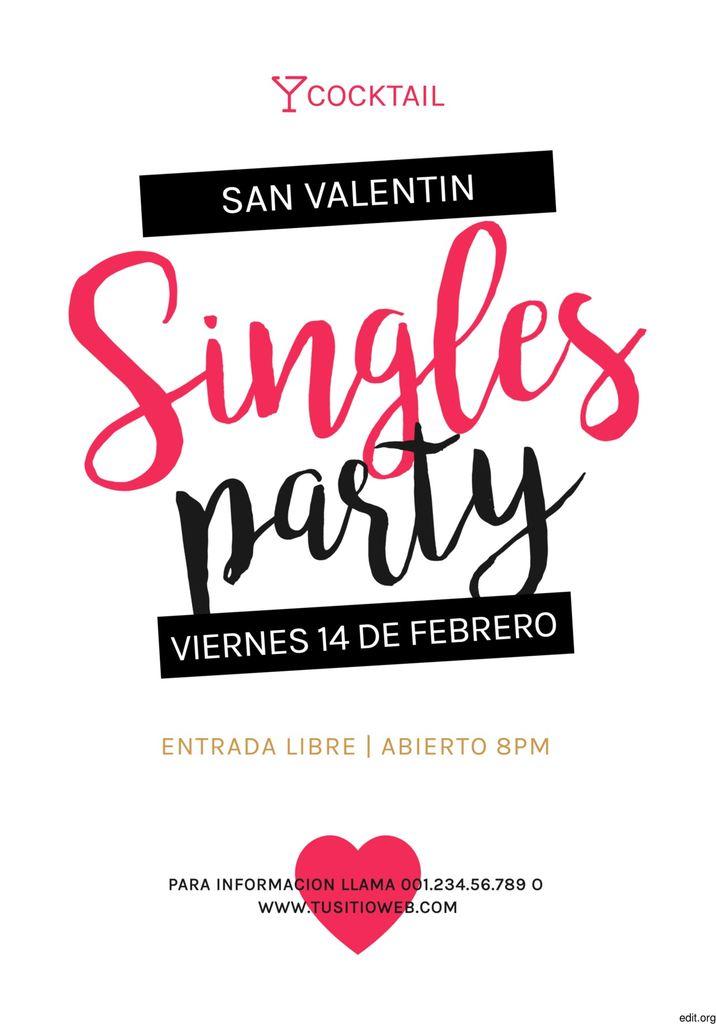 cartel para fiesta de solteros editable para imprimir