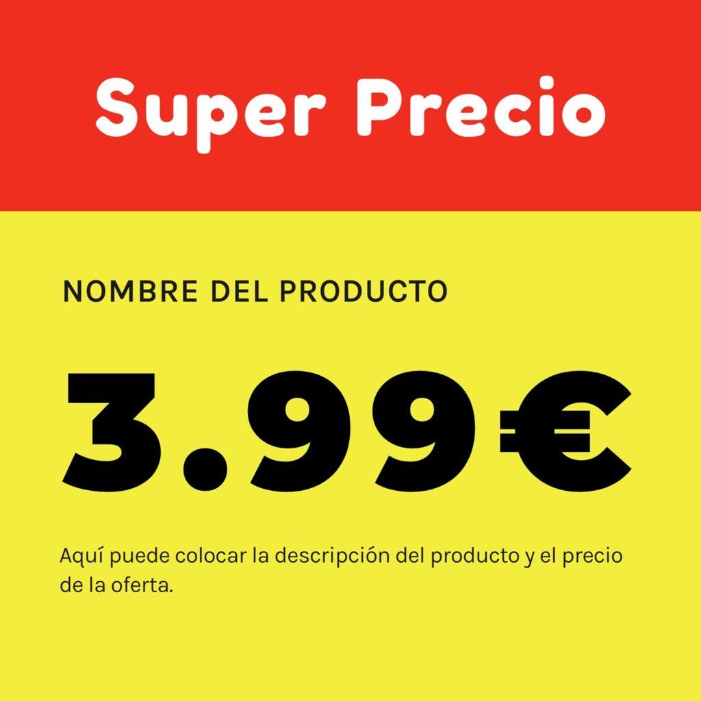 super precio promo cartel
