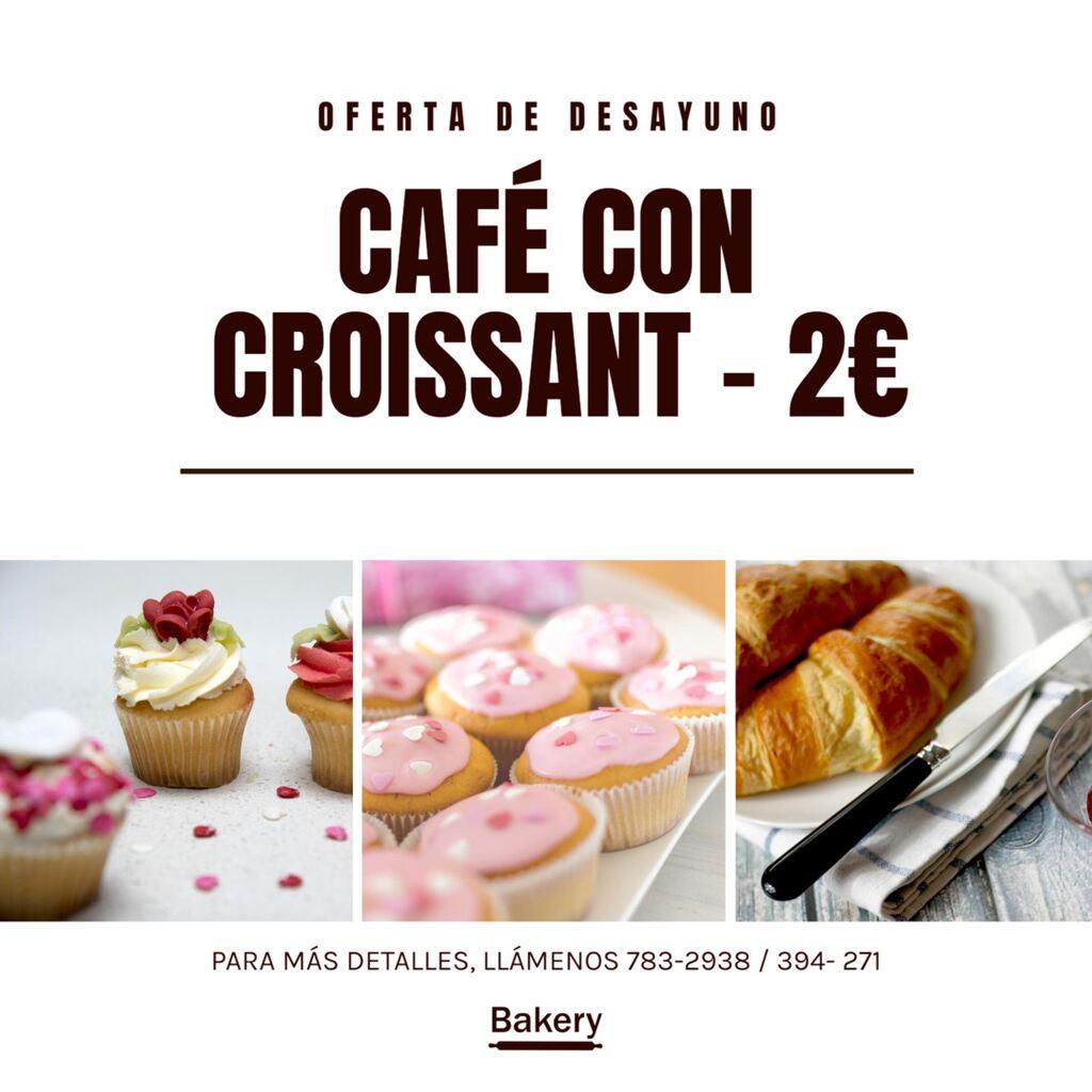 oferta café y croistant