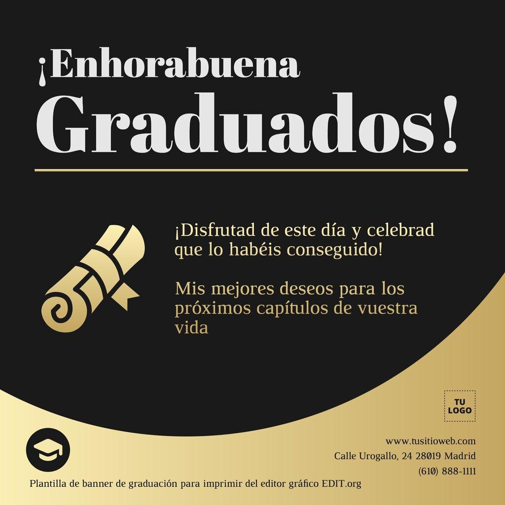 Diseños de graduaciones para editar online