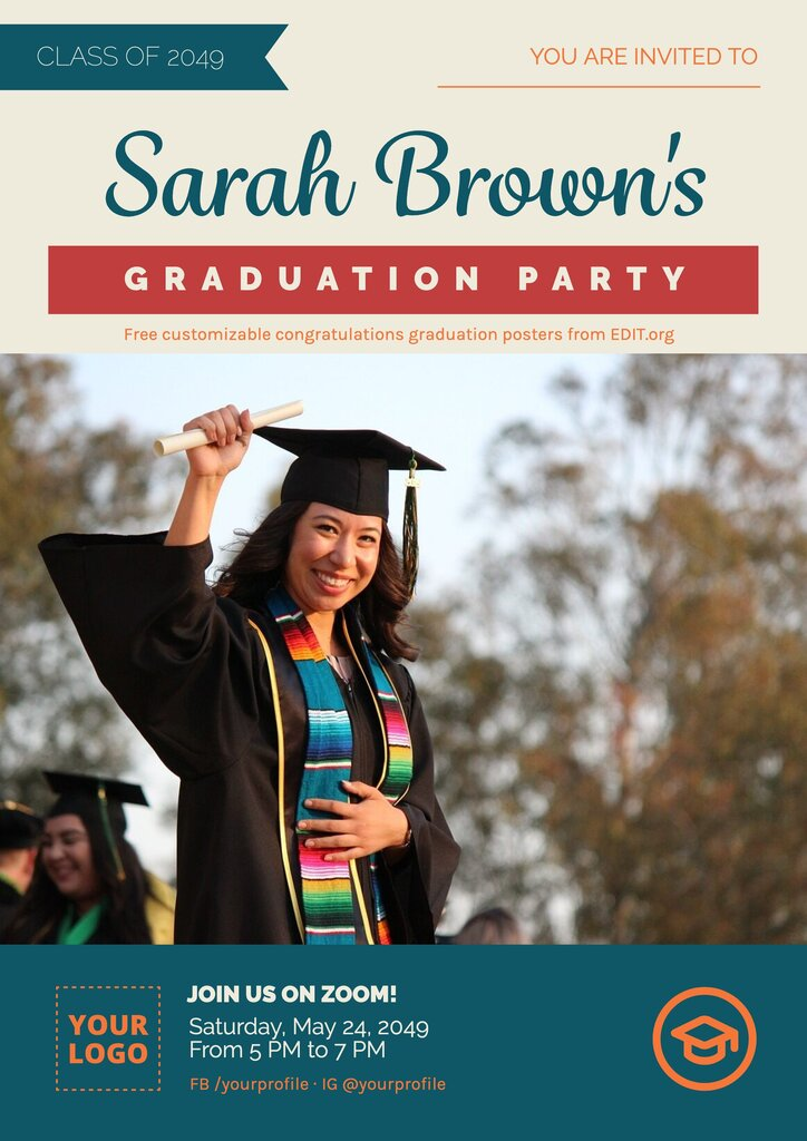 College graduation posters and flyers to print