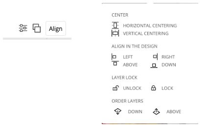Align button position layers