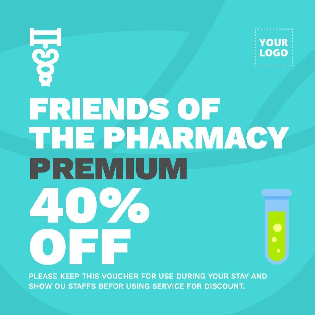 Template design for pharmacies discounts