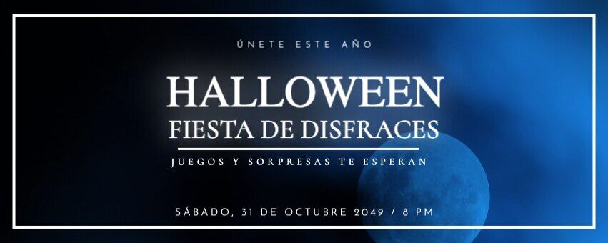 Plantilla banner Halloween para fiesta de disfraces o eventos de noche