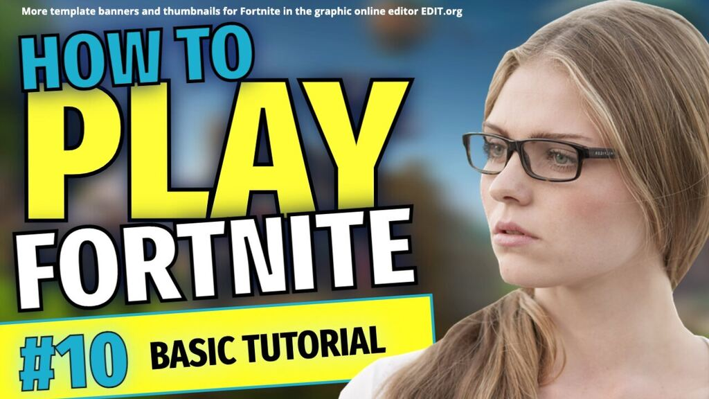 Free Fortnite template for youtube thumbnails and banners