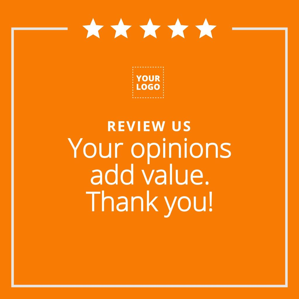 Editable template to ask a review to your customers
