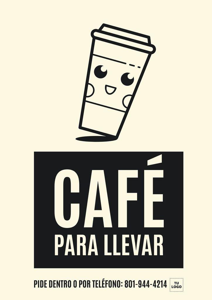 plantilla diseño cafe para llevar