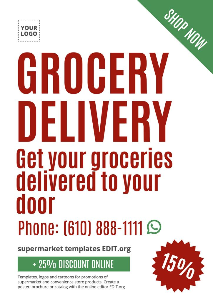 grocery delivery template to edit online for free