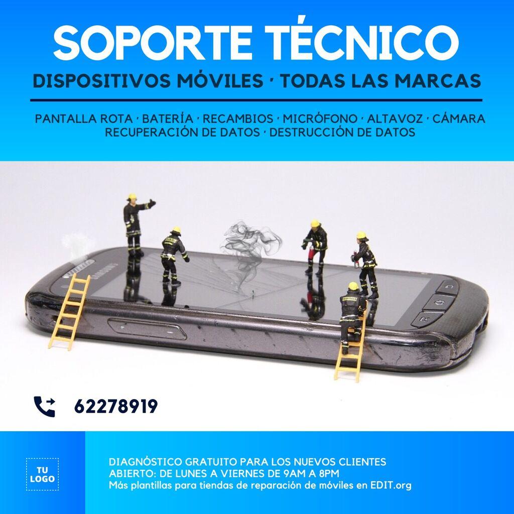 Plantilla para tienda de reparación de moviles y celulares