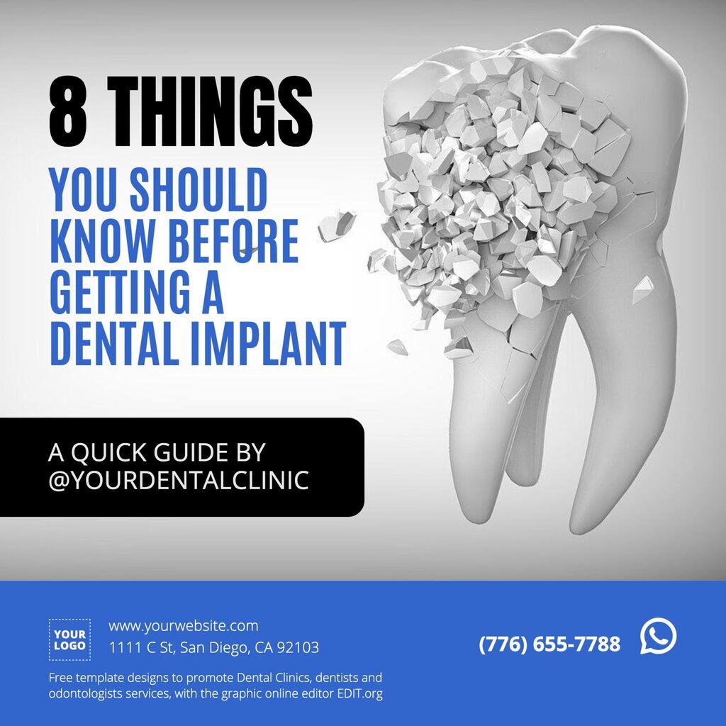 Editable template dental clinic blogs