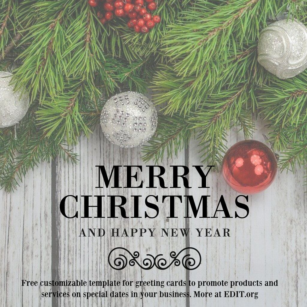 Editable Christmas card to edit online for free
