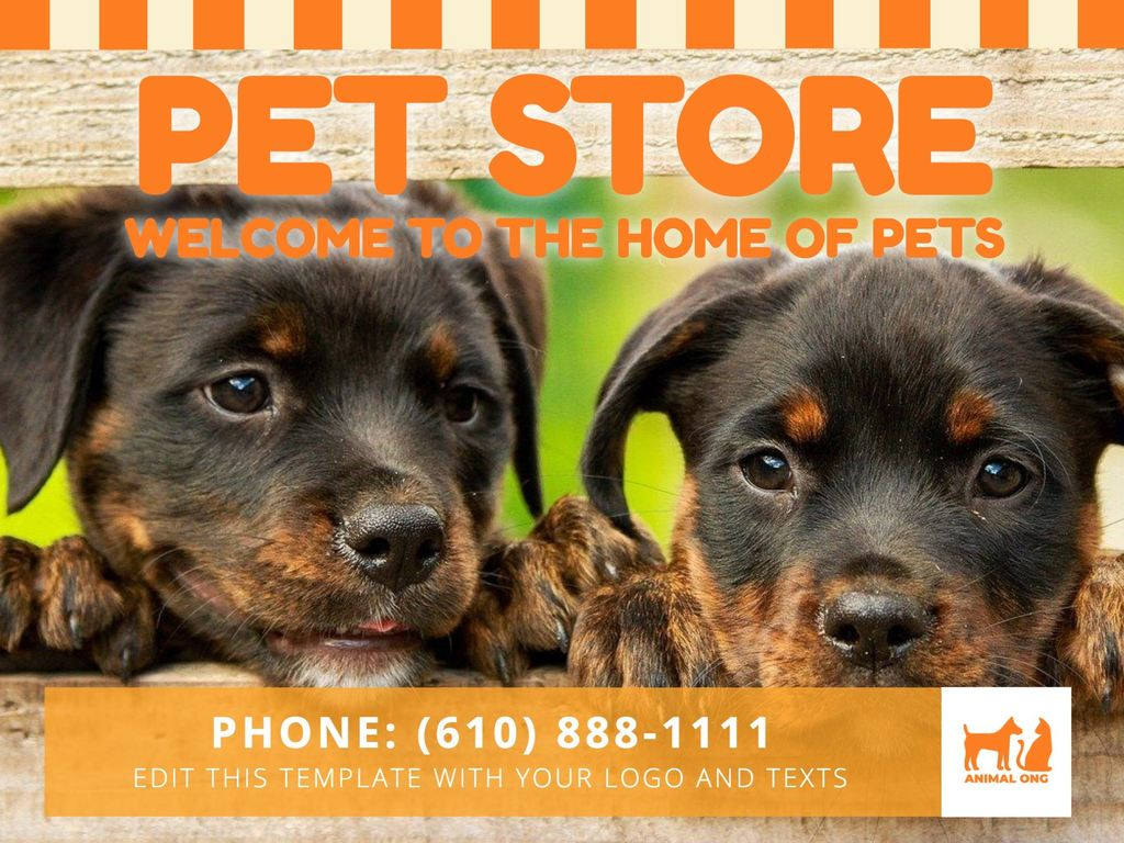 Pet store editable template for posters and banners