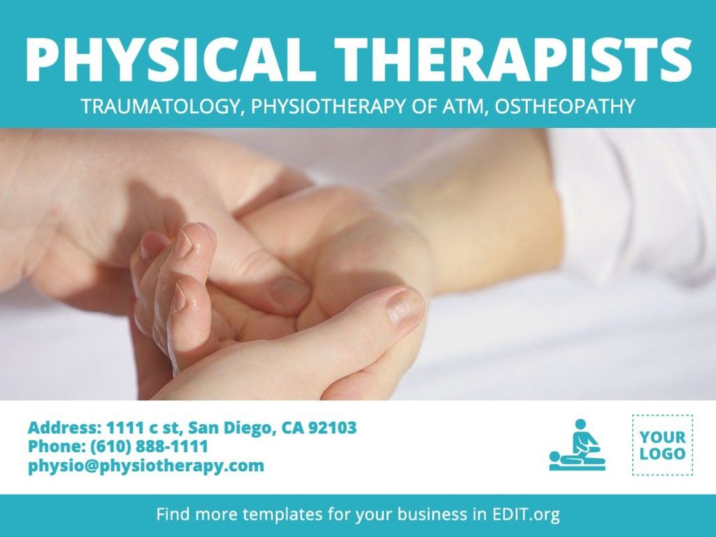 Editable template for physical therapists and osteopaths