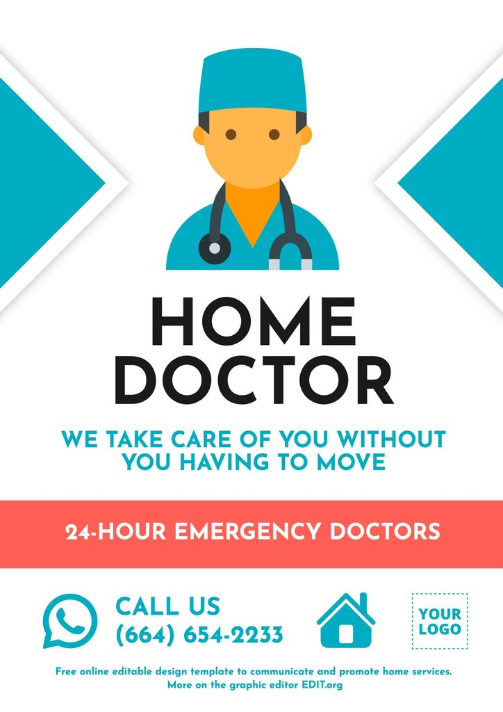 Home doctor template to customize online