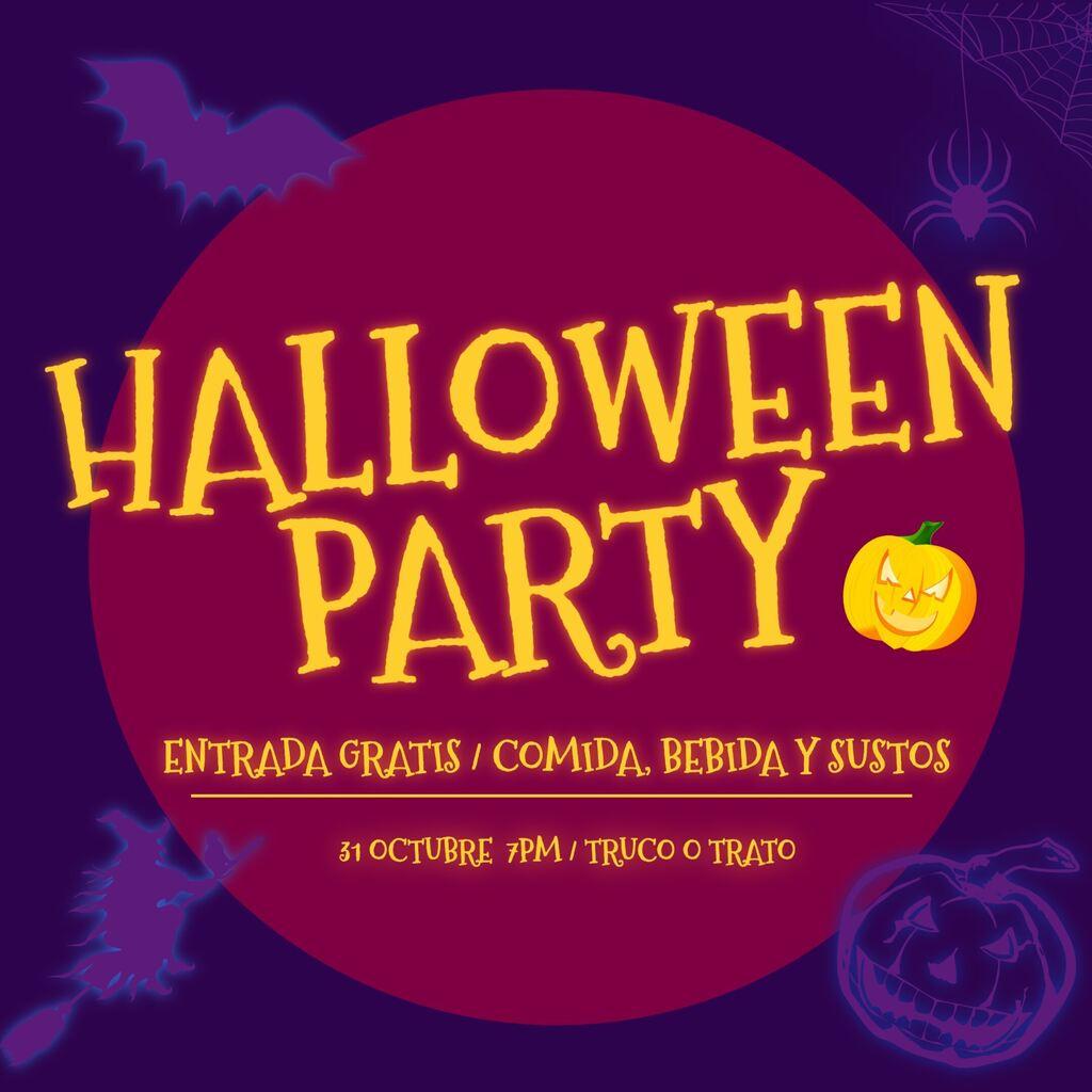Plantilla invitación fiesta Halloween, editable y personalizable