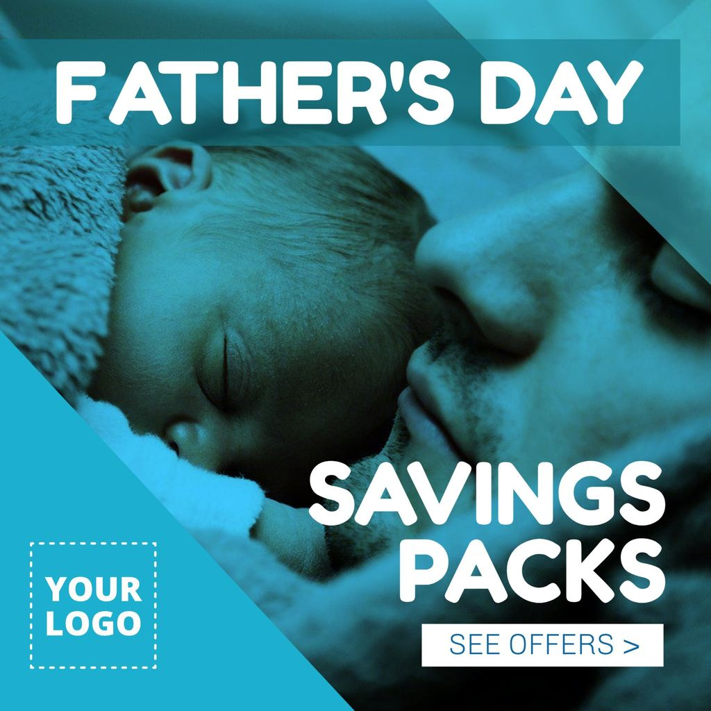 Fathers day savings pack offer template