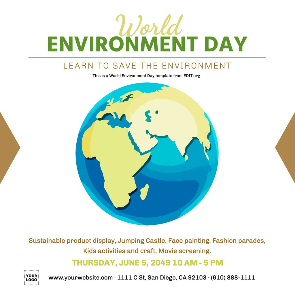 Customizable save earth day poster