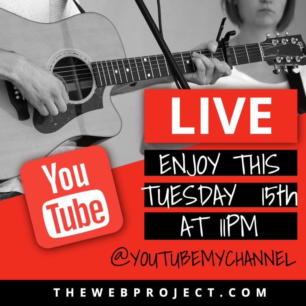 Youtube live event plantilla editable