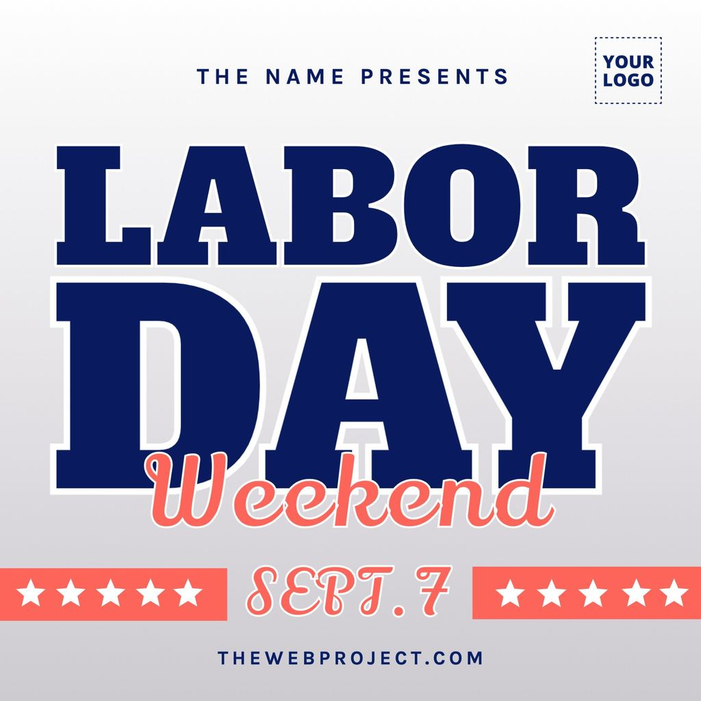 Labor day weekend template for sales