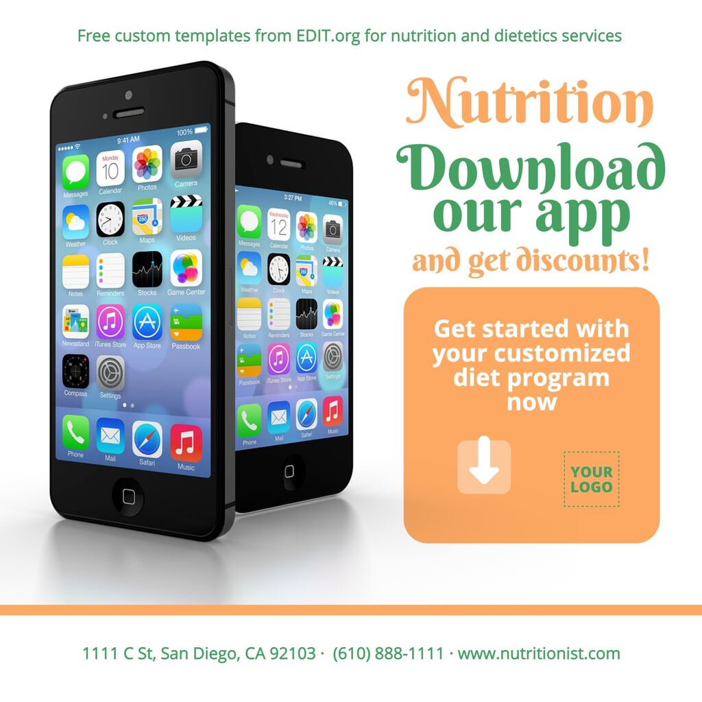 Free templates for nutritionists and dietitians