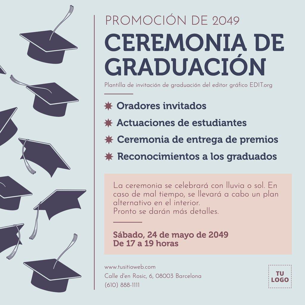 Plantillas para graduacion editables