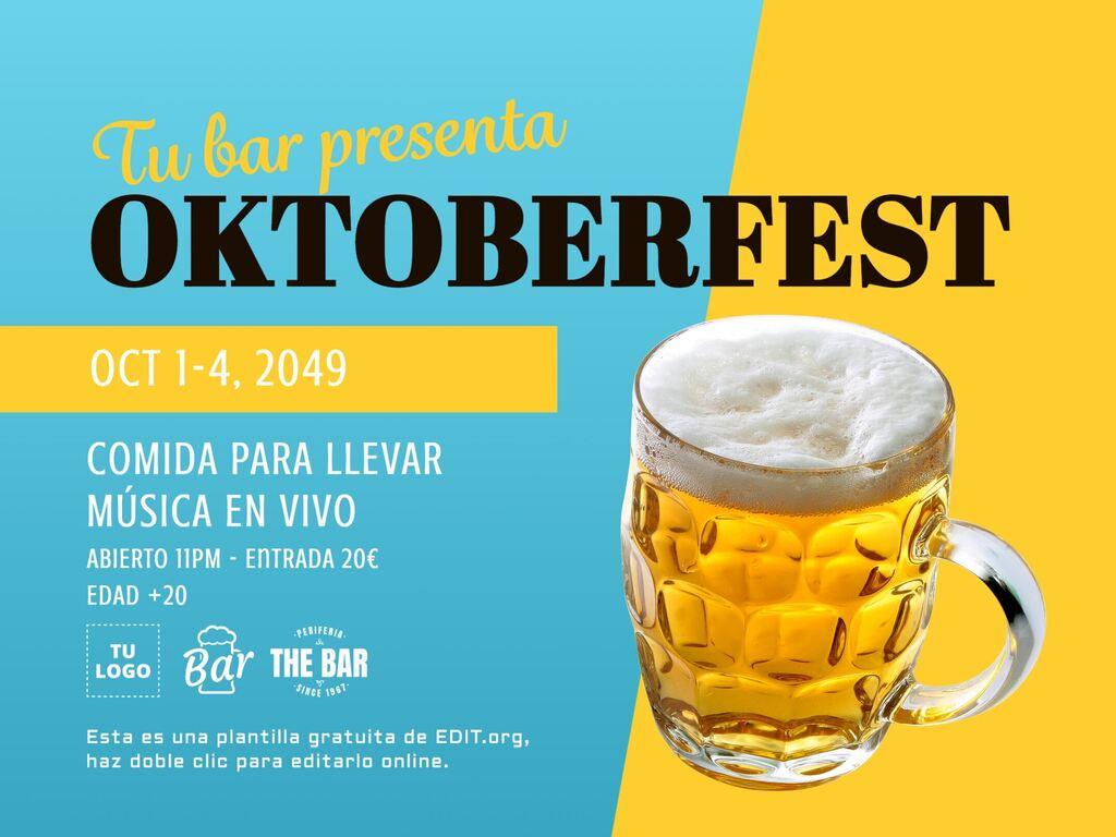 Plantilla carteles Oktoberfest editables online gratis